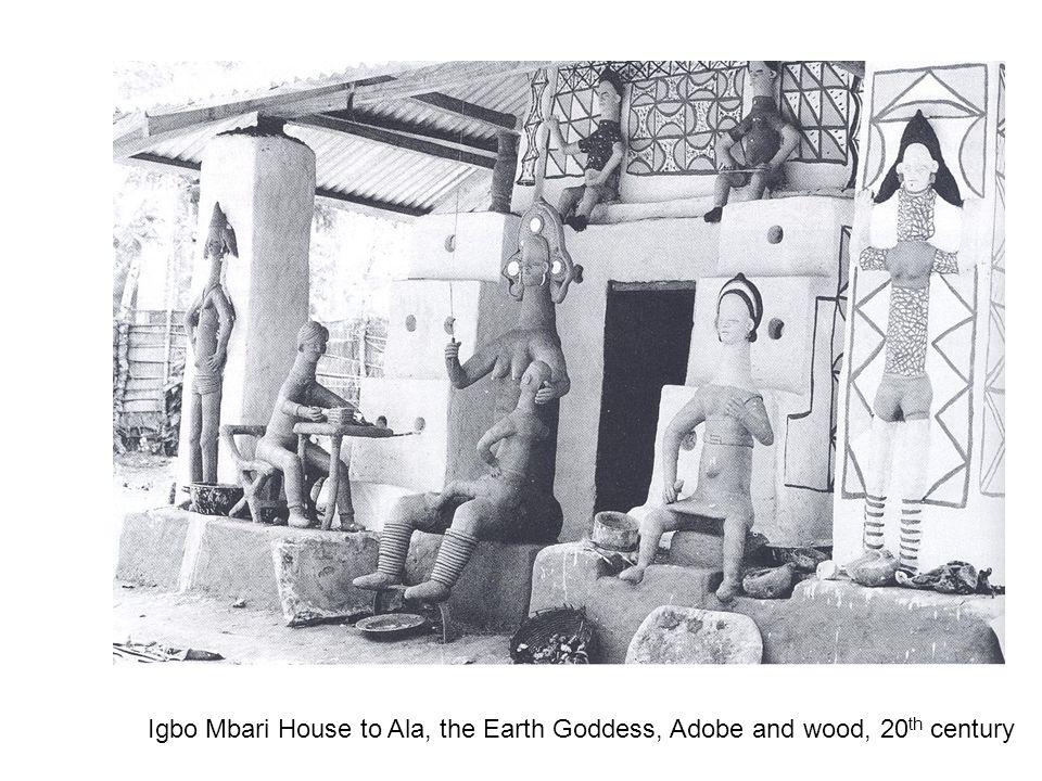 Igbo Mbari House to Ala, the Earth Goddess, Adobe and wood, 20 th century