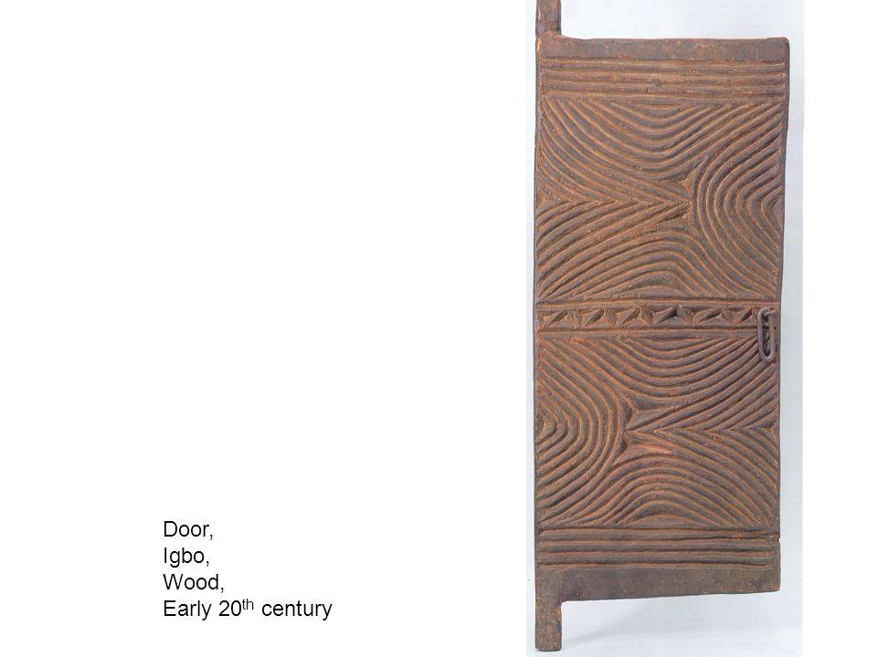 Door, Igbo, Wood, Early 20 th century