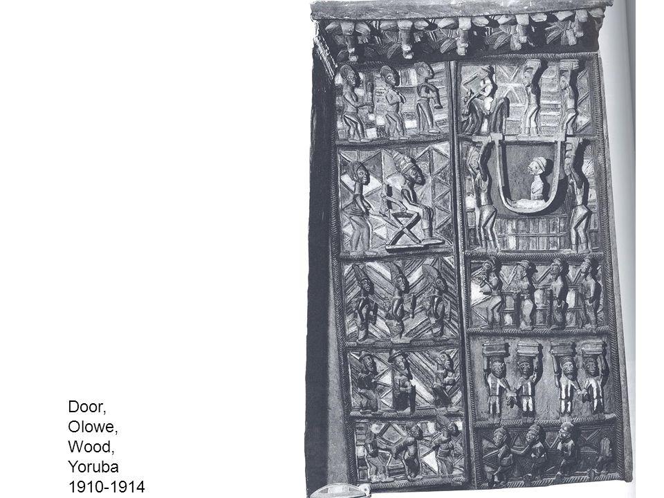 Door, Olowe, Wood, Yoruba 1910-1914