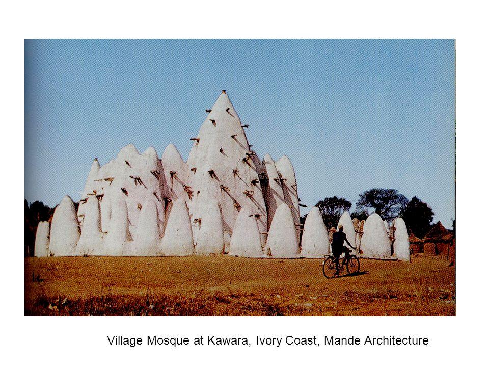 Village Mosque at Kawara, Ivory Coast, Mande Architecture
