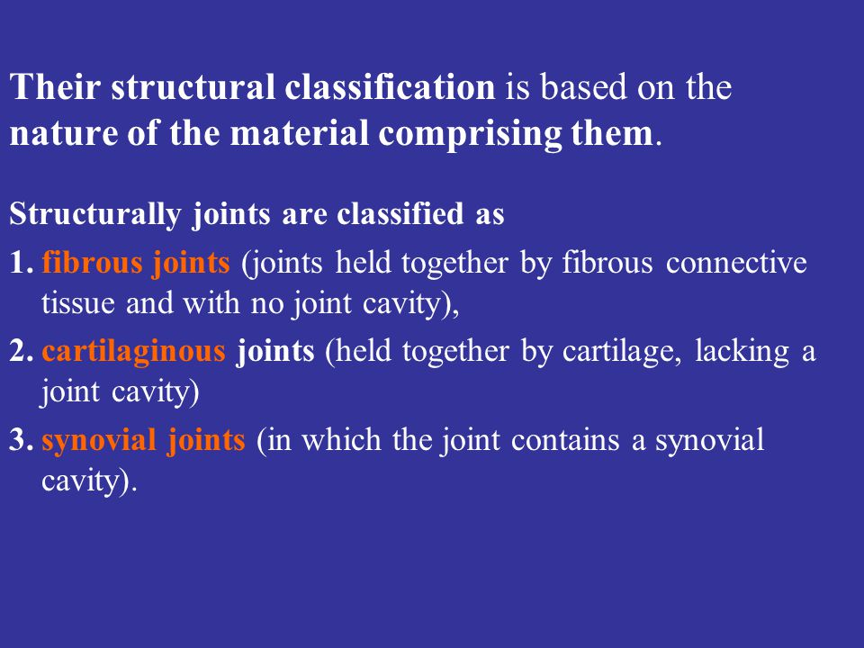 Their structural classification is based on the nature of the material comprising them.