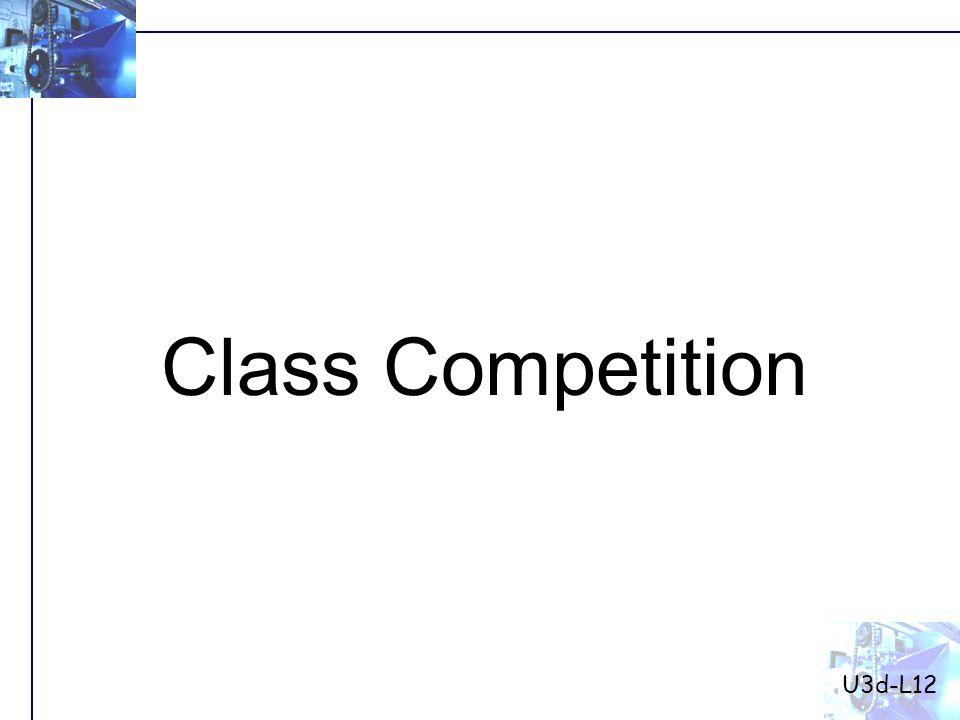 Class Competition U3d-L12