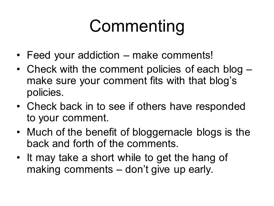 Blogging Finally, you can start out your own blog.