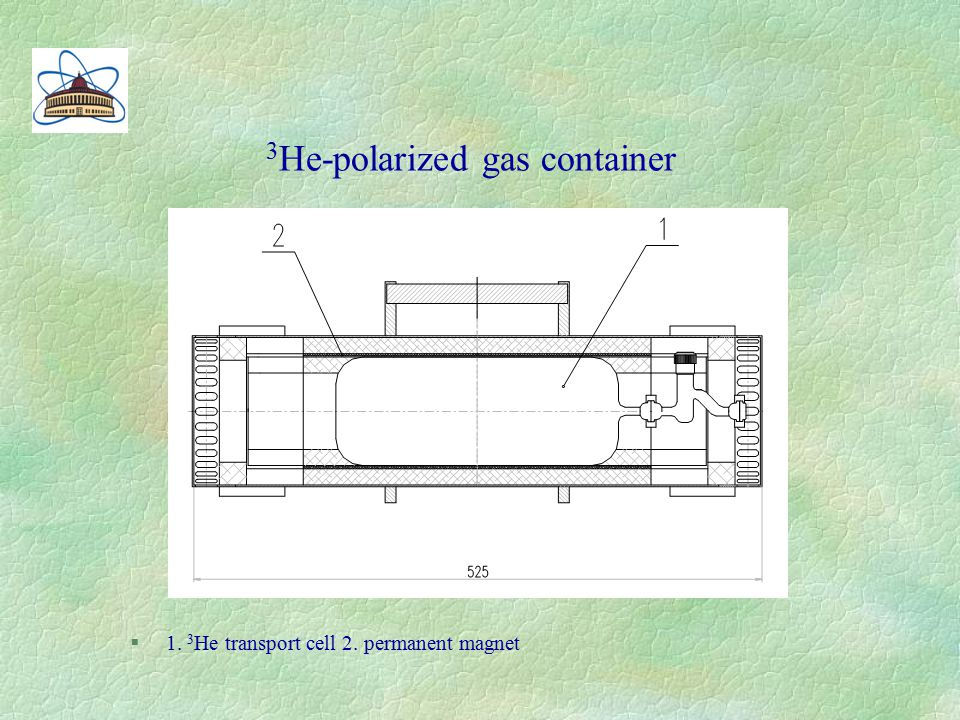 3 He-polarized gas container §1. 3 Не transport cell 2. permanent magnet