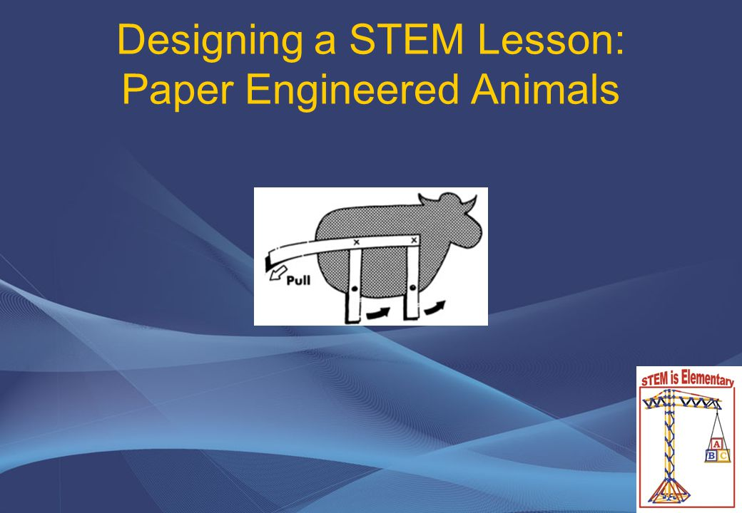 Designing a STEM Lesson: Paper Engineered Animals