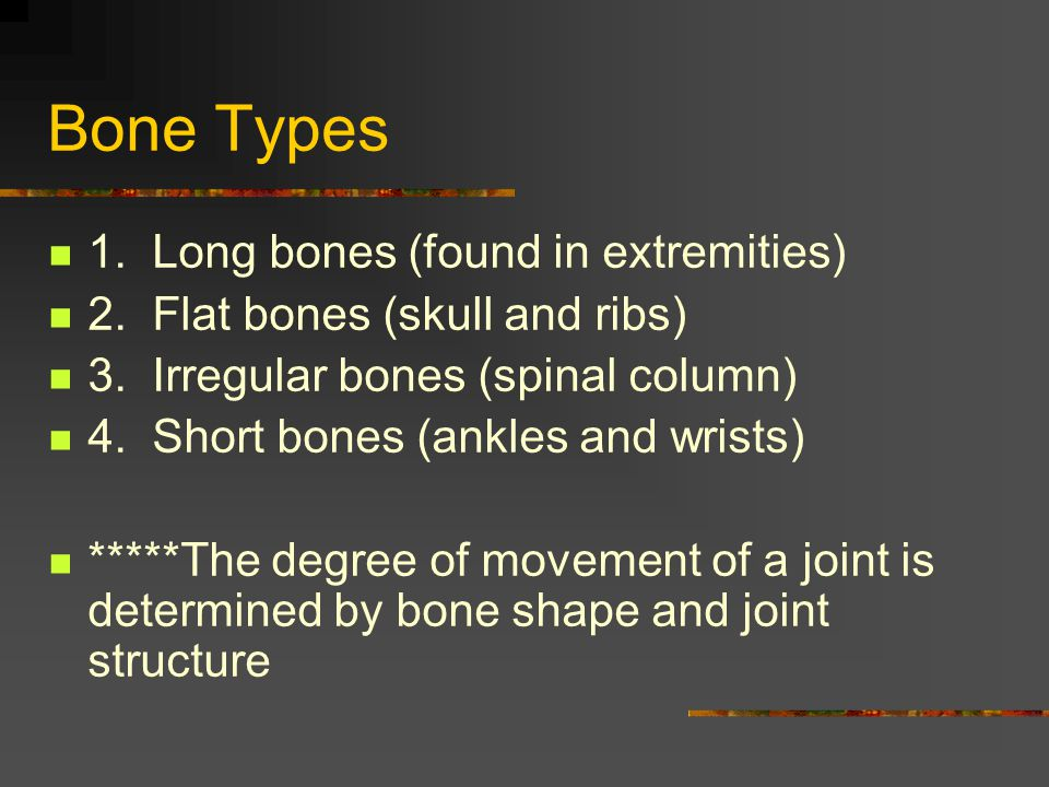 Types of Motion: Define from book Flexion Extension Abduction Adduction Circumduction Rotation Pronation Supination