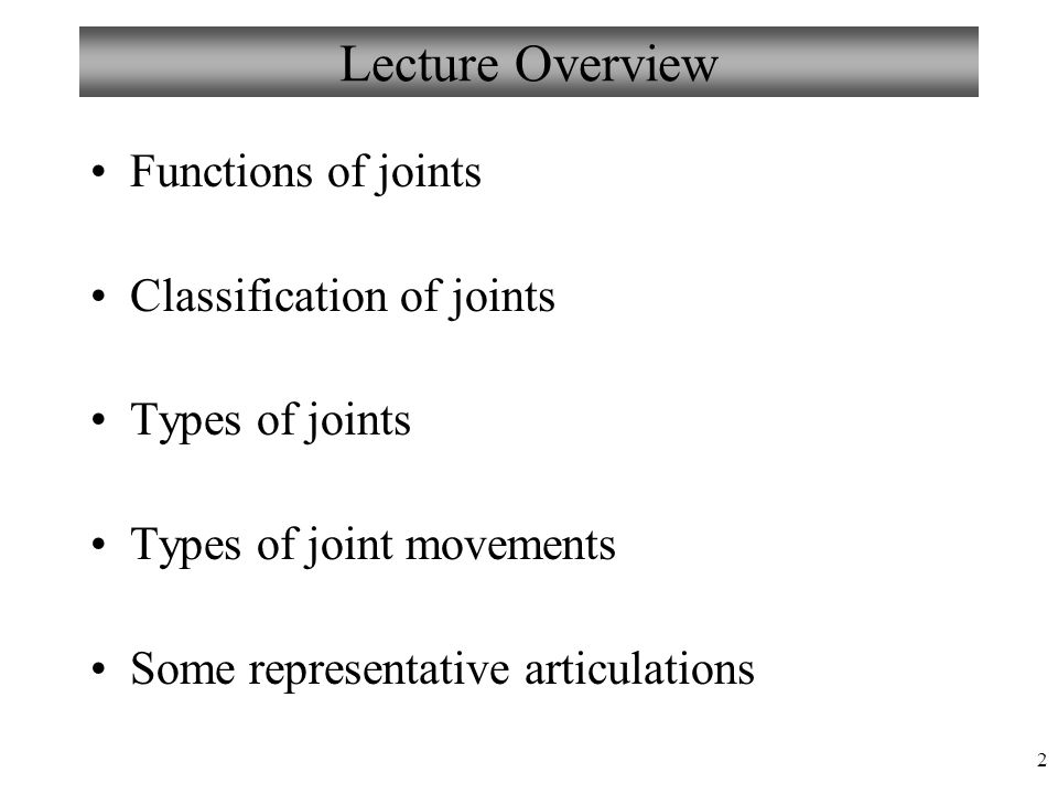 33 Hip (Coxal) Joint ball-and-socket joint head of femur acetabulum heavy joint capsule many reinforcing ligaments less freedom of movement than shoulder joint, but very strong Fovea capitis and ligamentum capitis (teres) Figure from: Hole's Human A&P, 12 th edition, 2010