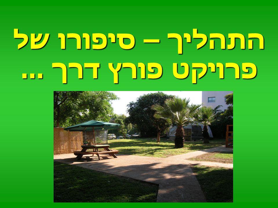בית ספרנו כחלק מסביבה עירונית ירוקה