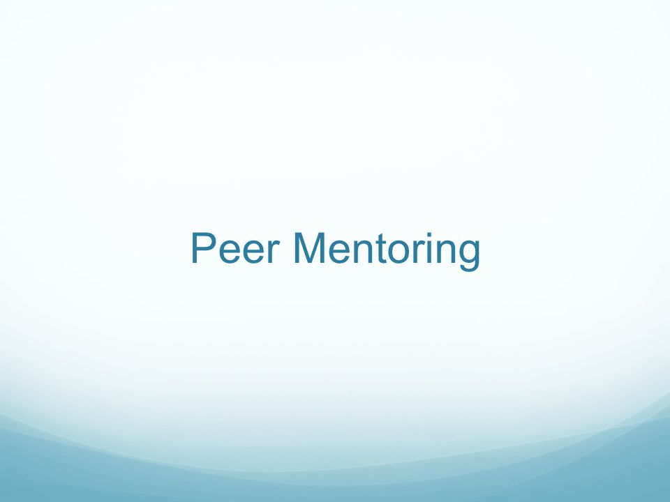 Integral course element: peer mentors (sophomores) and TAs (juniors or seniors) Based on Peer-Led Team Learning model Research on peer interactions has shown: Increased achievement and persistence Cognitive growth Development of leadership