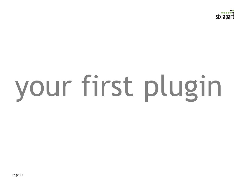 Page 17 your first plugin