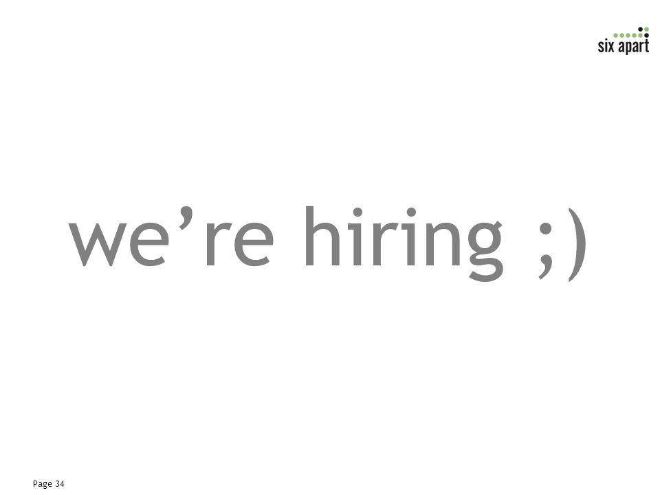 Page 34 we're hiring ;)