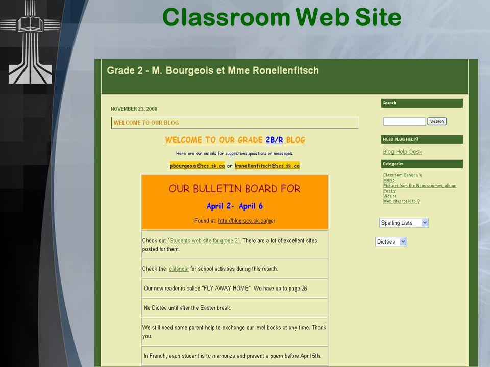 Classroom Web Site