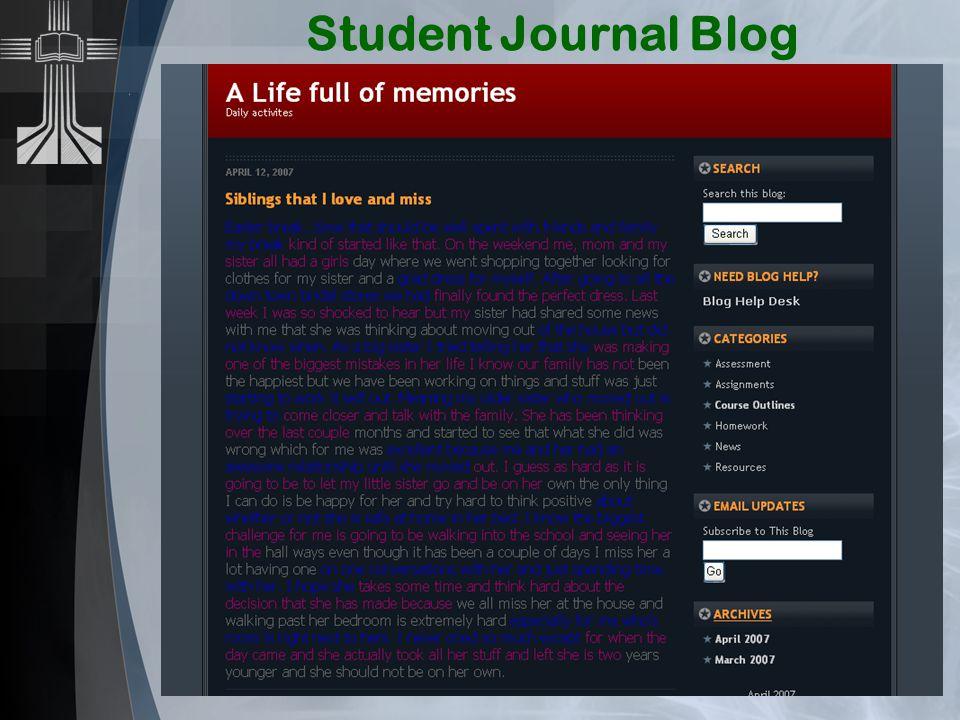 Student Journal Blog
