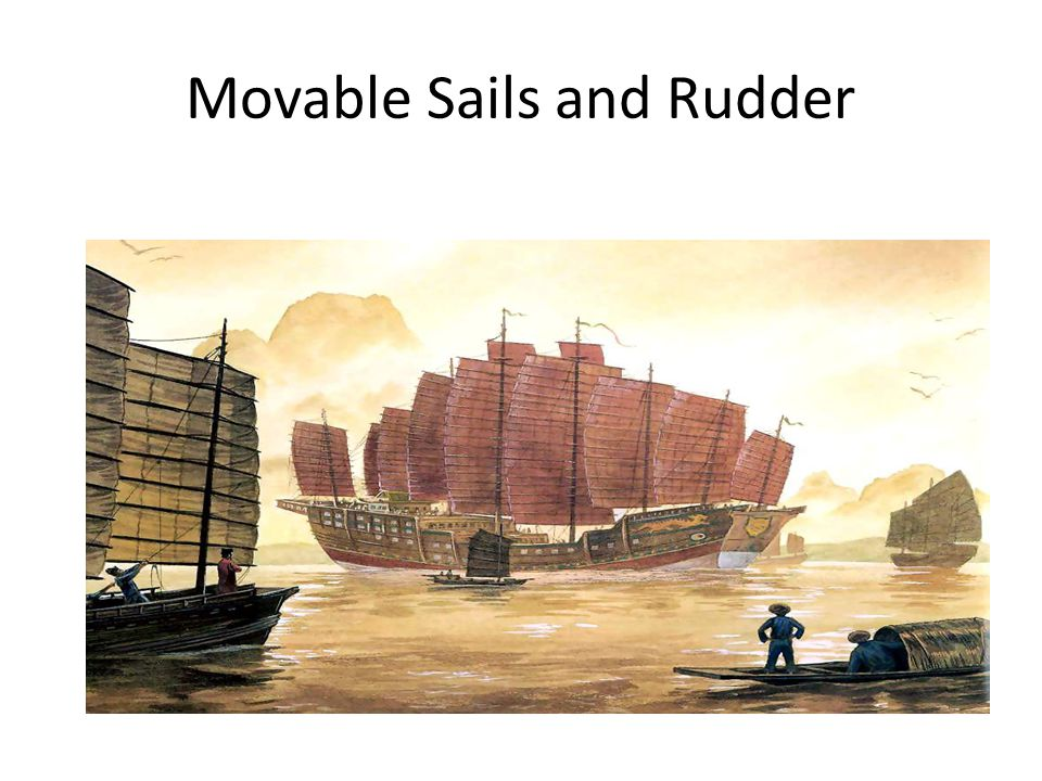 Movable Sails and Rudder