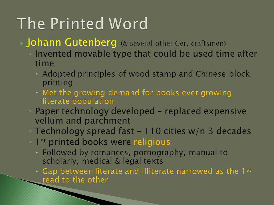  Johann Gutenberg (& several other Ger.