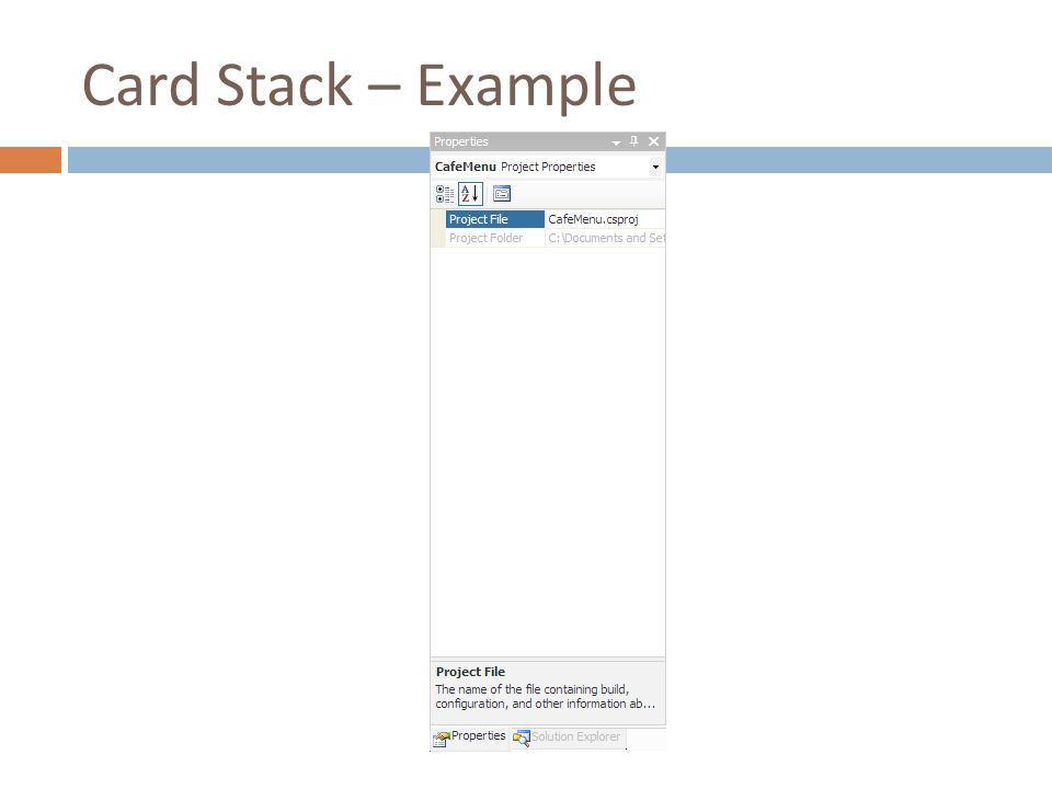 Card Stack – Example