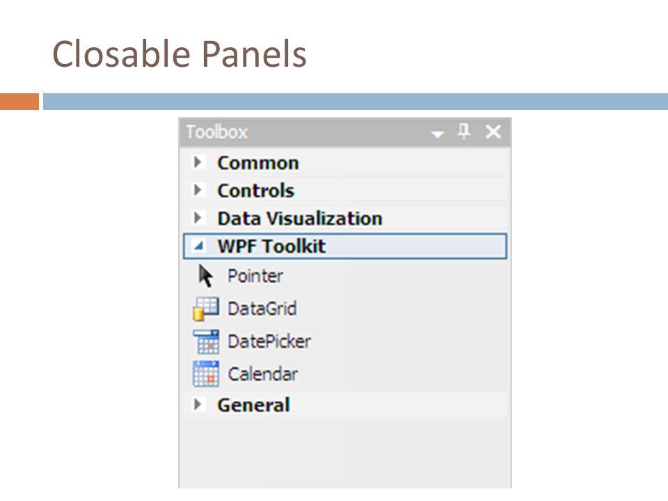 Closable Panels