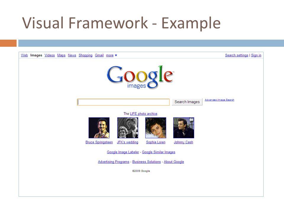 Visual Framework - Example