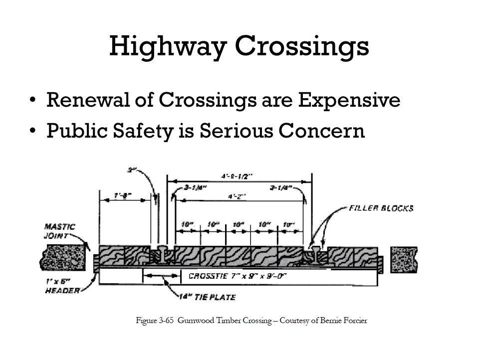 Highway Crossings Renewal of Crossings are Expensive Public Safety is Serious Concern