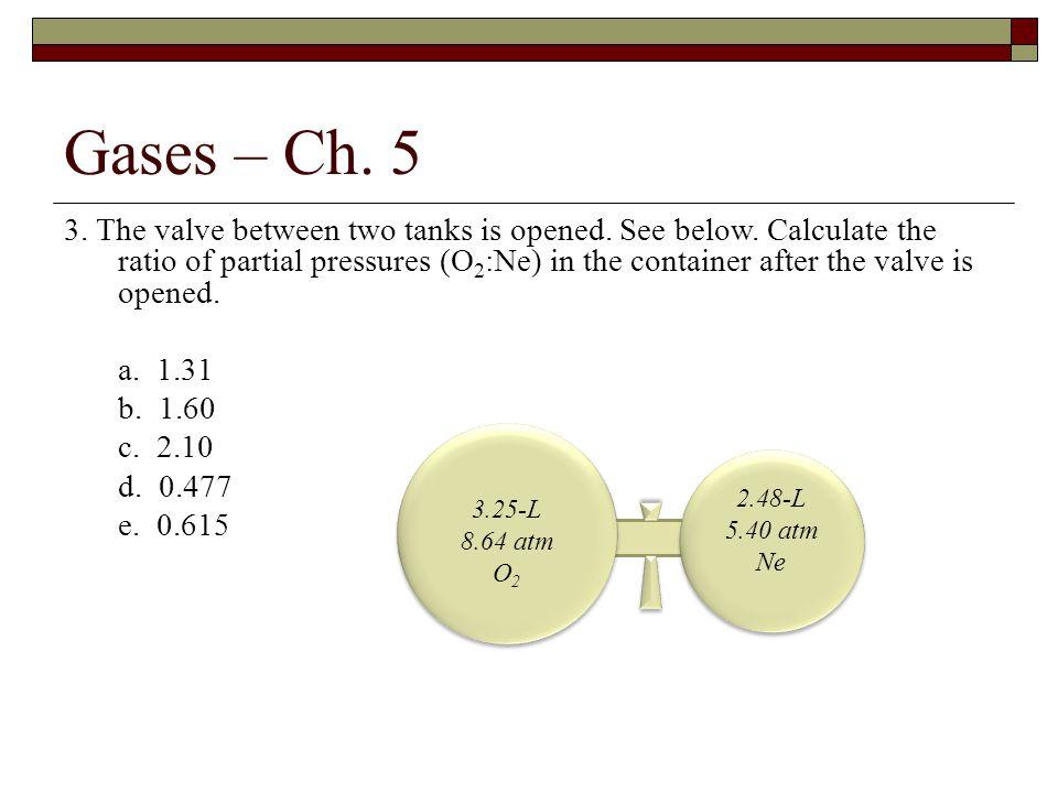 3.The valve between two tanks is opened. See below.