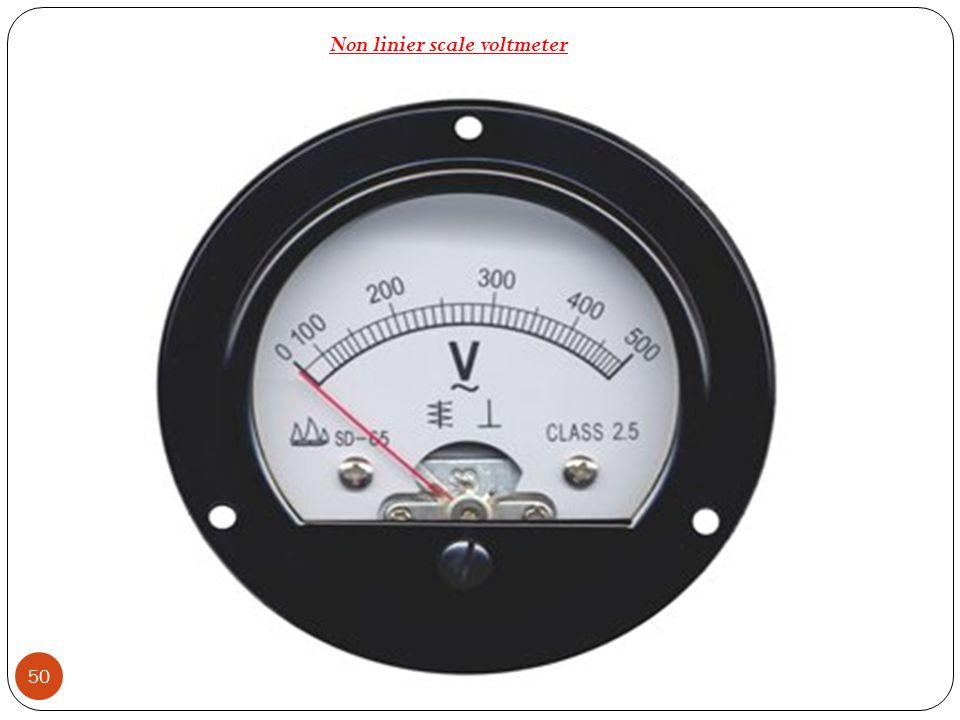 50 Non linier scale voltmeter