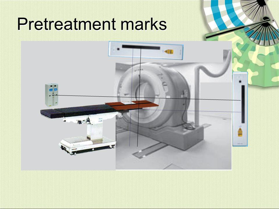 Pretreatment marks