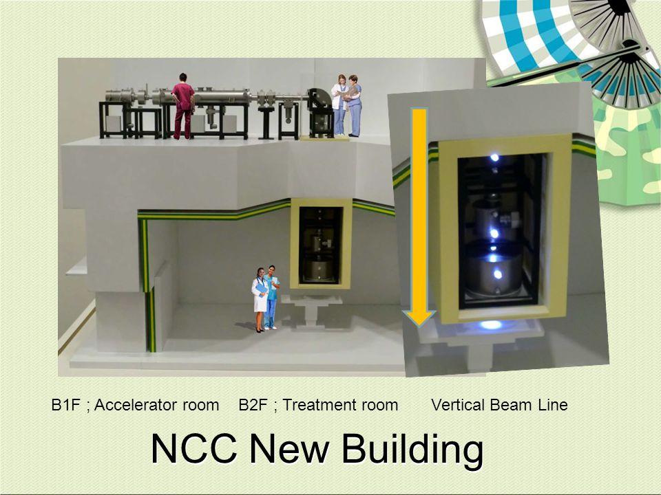B1F ; Accelerator room B2F ; Treatment room Vertical Beam Line