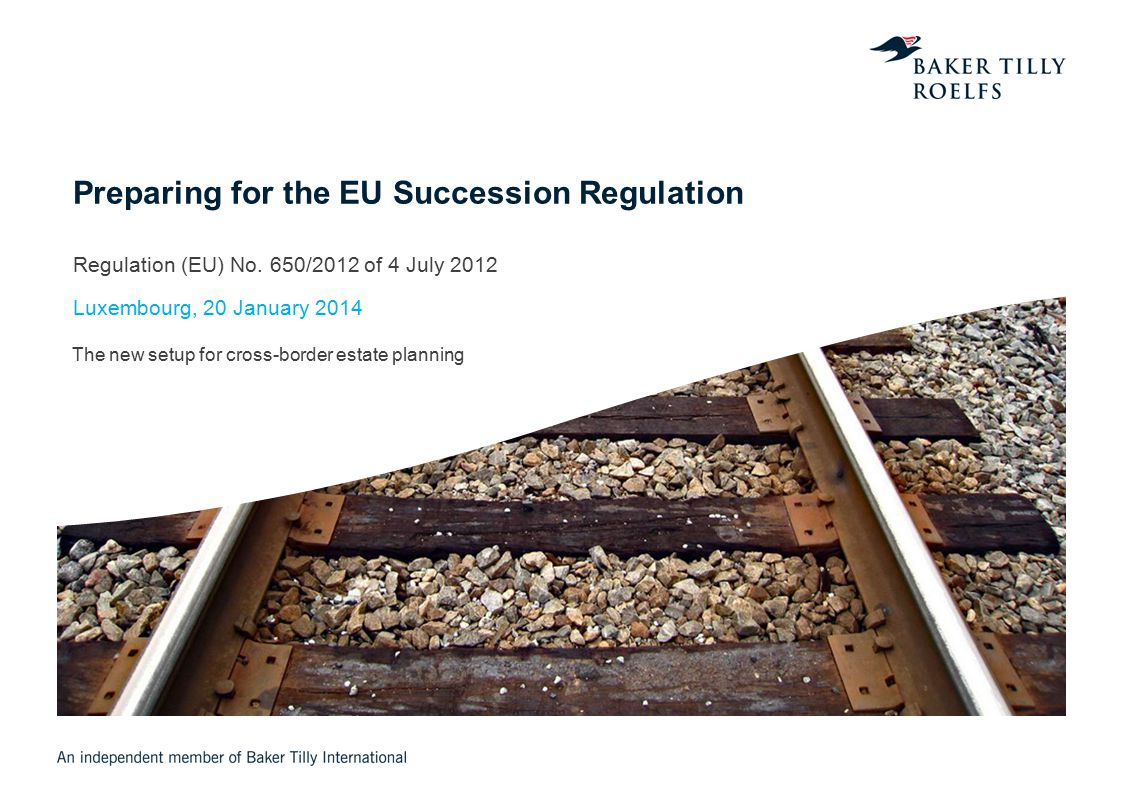 Agenda 1.Scope, Term and Local Applicability of Succession Regulation 2.Determination of Applicable Material Succession Law 3.Jurisdiction (Forum) 4.European Certificate of Succession 5.Advising Clients on Choice of Law in a Luxembourg-German Context Page 12