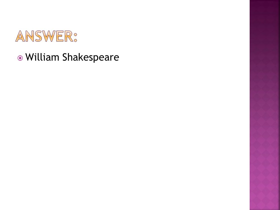  William Shakespeare