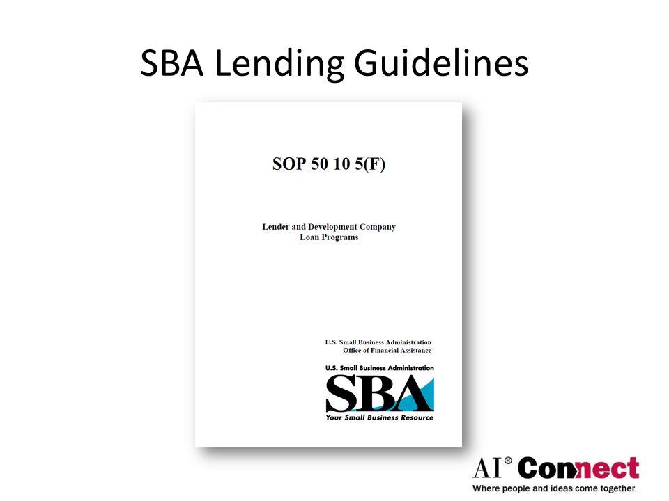 SBA Lending Guidelines