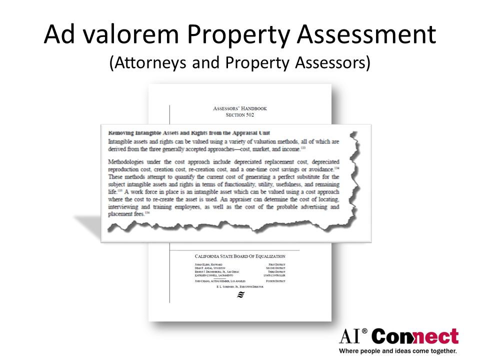 Ad valorem Property Assessment (Attorneys and Property Assessors)