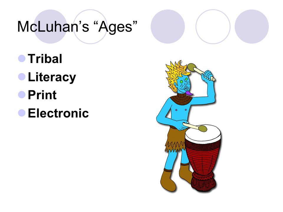 McLuhan's Ages Tribal Literacy Print Electronic