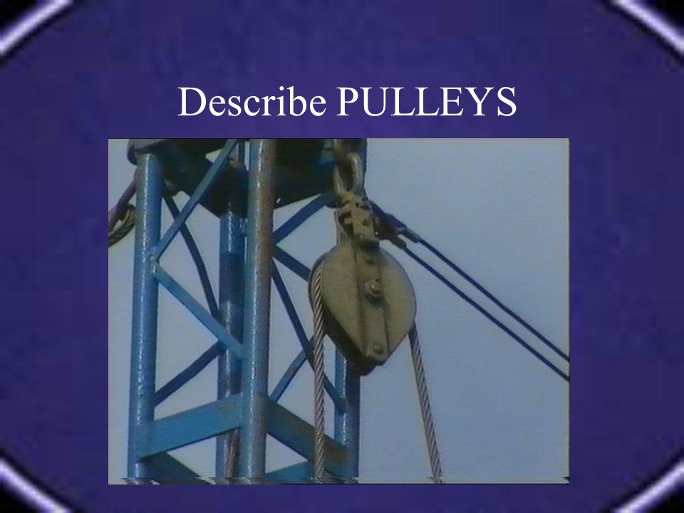 Describe PULLEYS