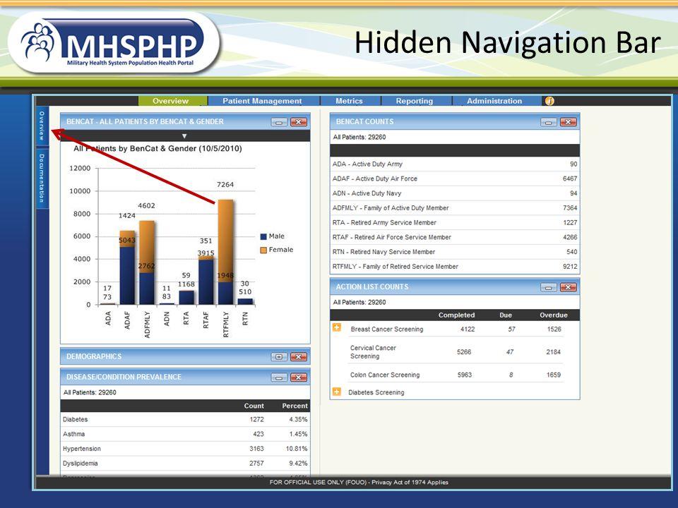 Hidden Navigation Bar