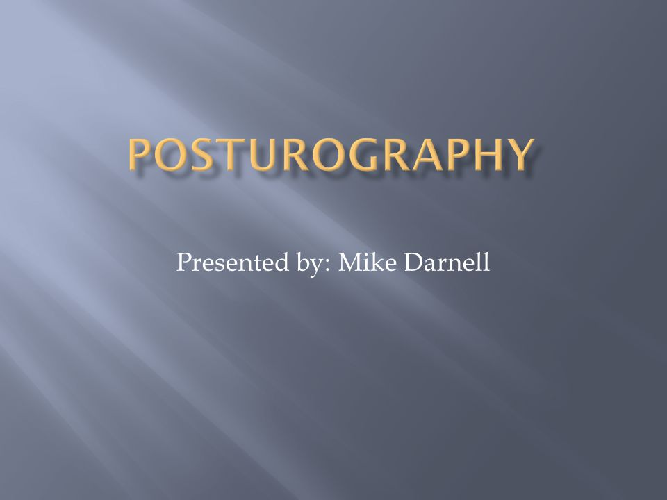  What is Posturography.