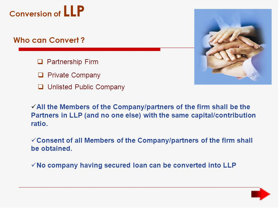Conversion of LLP Who can Convert .