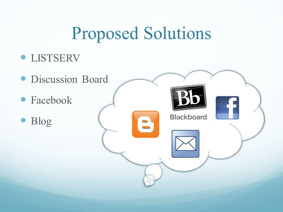 Proposed Solution #1 LISTSERV Email list management software.