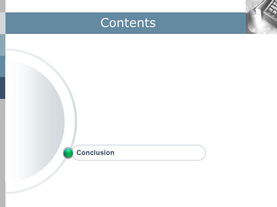 Contents Conclusion