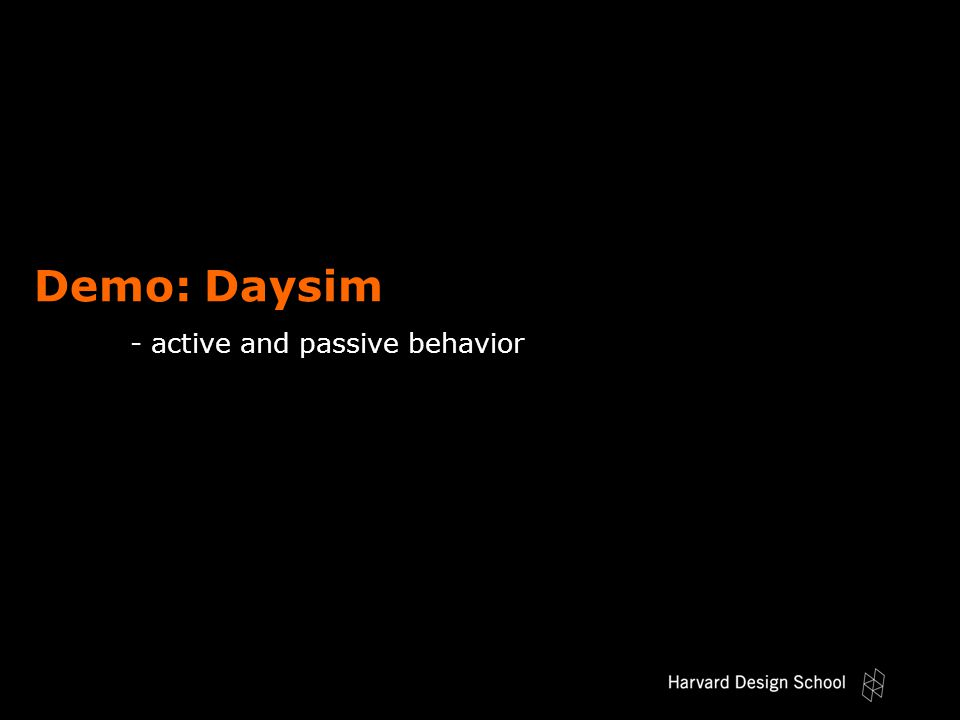Demo: Daysim - active and passive behavior