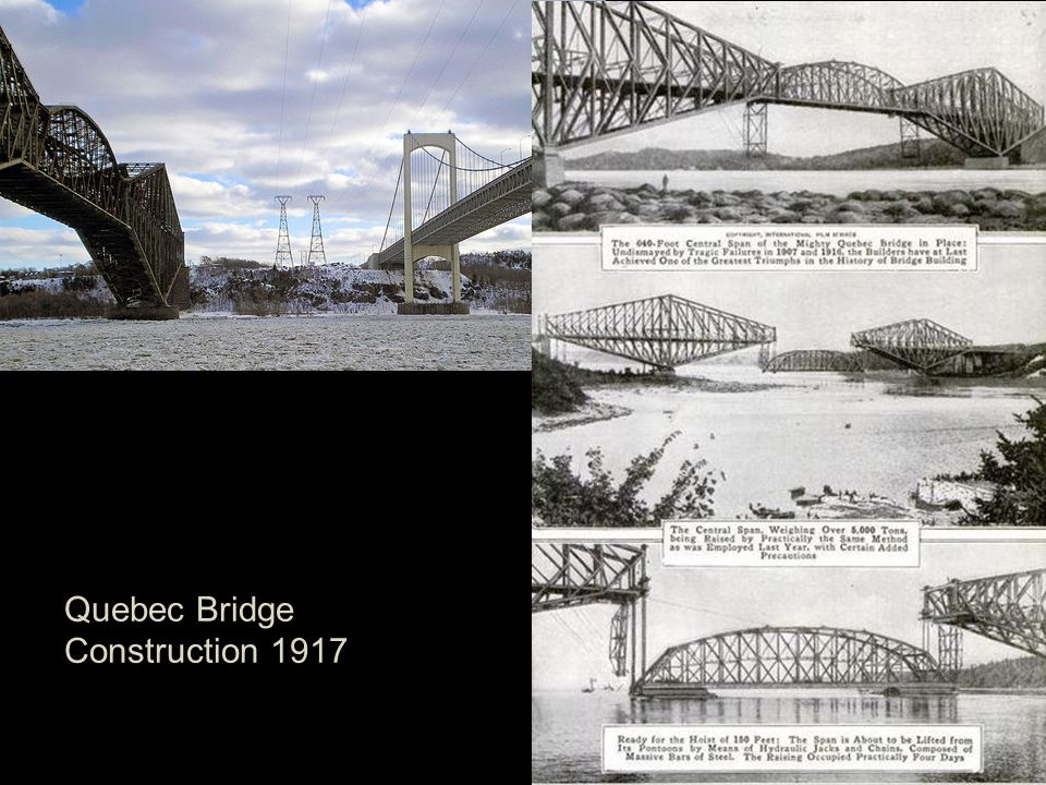 Quebec Bridge Construction 1917