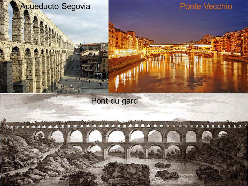 Acueducto SegoviaPonte Vecchio Pont du gard