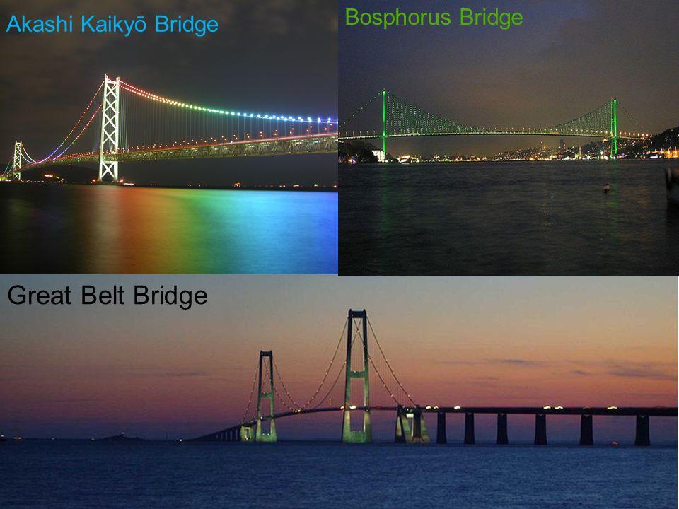 Great Belt Bridge Akashi Kaikyō Bridge Bosphorus Bridge