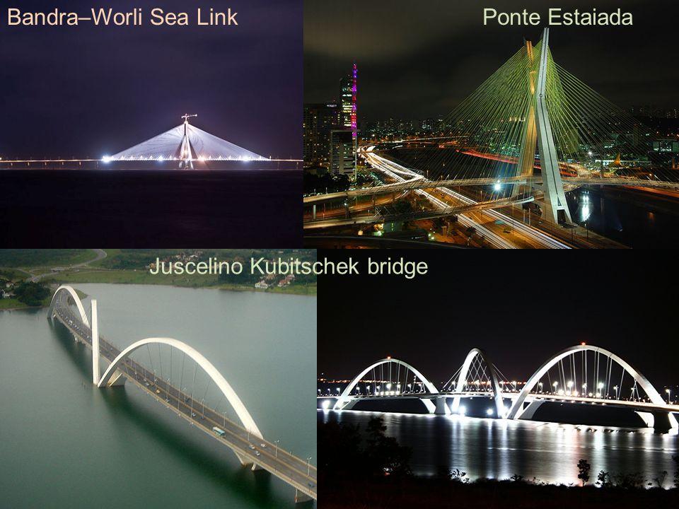 Juscelino Kubitschek bridge Bandra–Worli Sea LinkPonte Estaiada