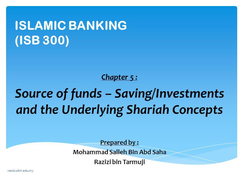  Islamic banks mobilises its customer' deposits in current accounts on the contract of al- wadiah yad dhamanah (guaranteed custody) Customer's deposits in Current Accounts (al-wadiah yad dhamanah) razizi.uitm.edu.my