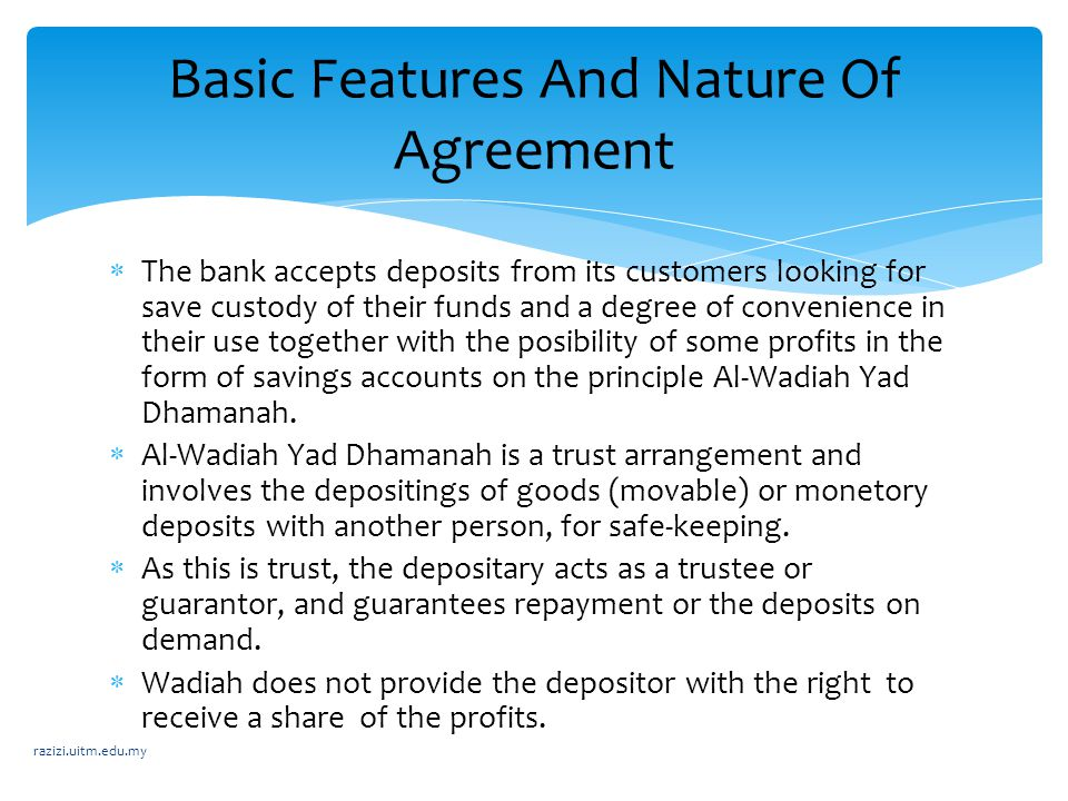  The bank accepts deposits from its customers looking for save custody of their funds and a degree of convenience in their use together with the posi
