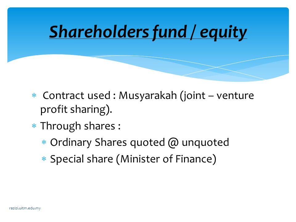 Deposit Management in Theory of Islamic Banking Pure profit – Sharing Model Profit Sharing – Model Two Window Model Depositor fund razizi.uitm.edu.my