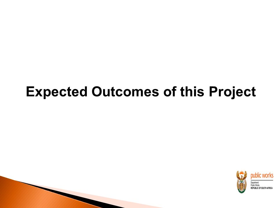 Expected Outcomes of this Project