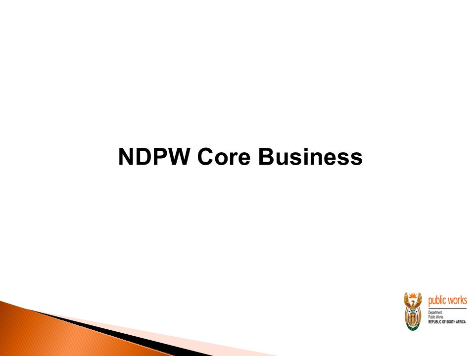 NDPW Core Business