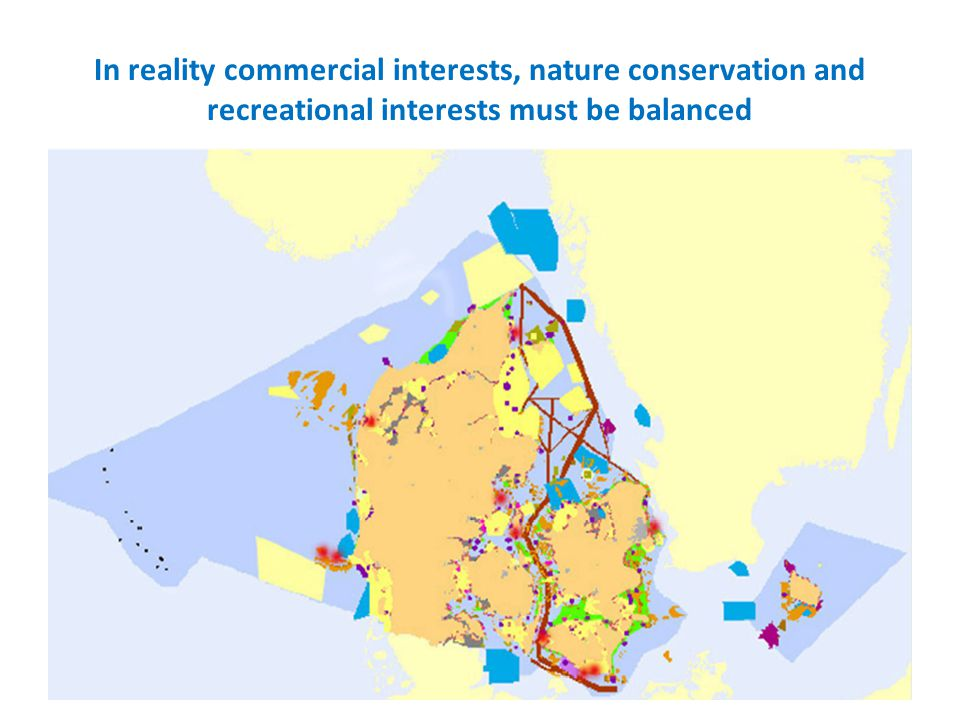 In reality commercial interests, nature conservation and recreational interests must be balanced
