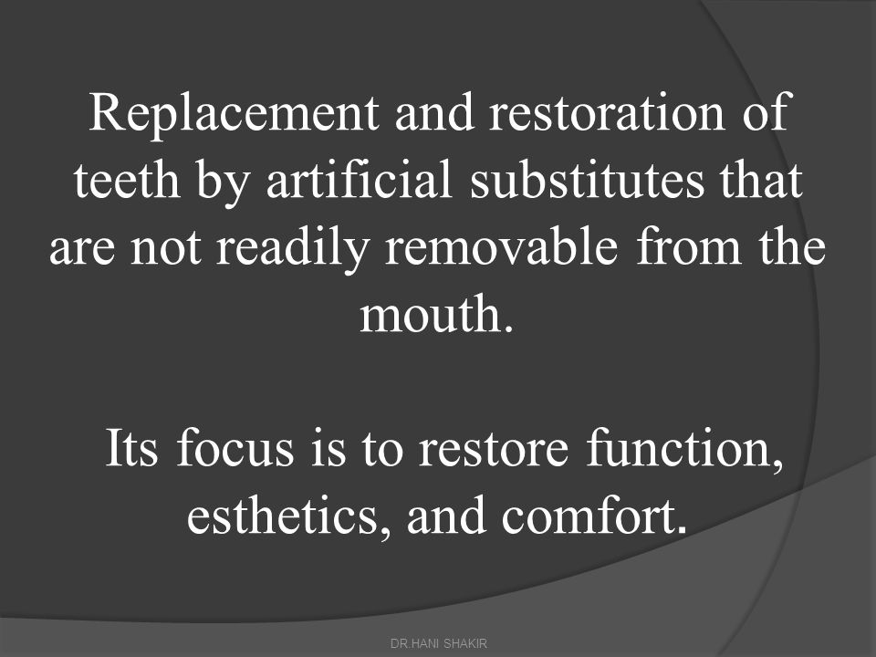 Abutment: A tooth serving as an attachment for a fixed partial denture.